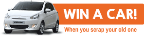 Win a car! When you scrap your old one