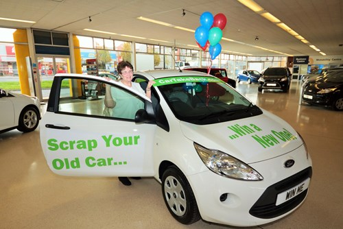 Margaret Rose, winner of CarTakeBack's third Win a Car competition
