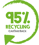 95% recycling compliance seal