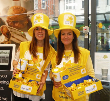 1- Charity Car staff collect donations for Marie Curie