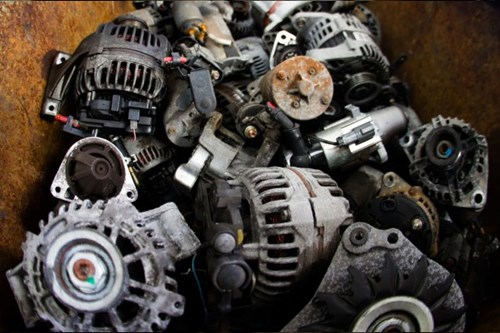 Used scrap car parts ready for sale