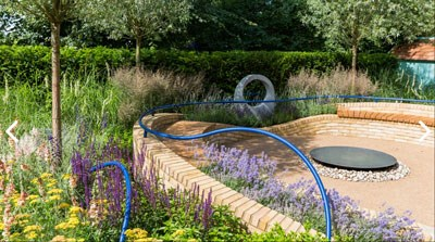 Abbeyfield's 'Breath of Fresh Air' sensory garden at the RHS Hampton Court Palace Flower Show