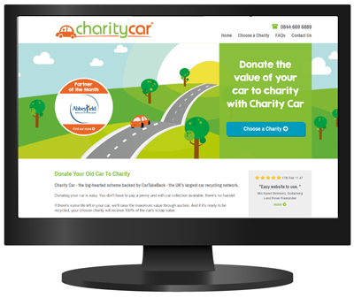 Charity Car's new look website