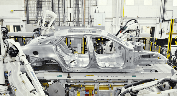 New car production using metal from recycled cars