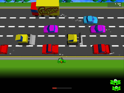 Frogger game play