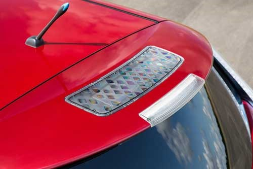 Nissan Electric Vehicle, the Leaf's solar panel in spoiler
