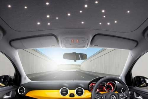 Vauxhall Adam LED Starlight roof lining option