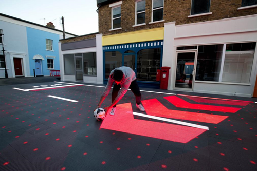 LED smart road unveiled in London