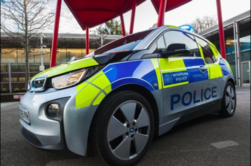 BMW i3 police car at Scotland Yard