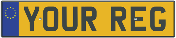 Number plate to transfer