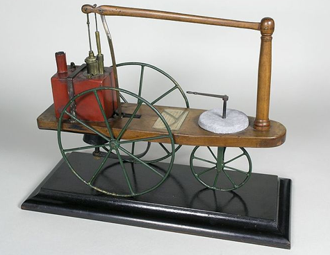 Murdoch's model steam carriage - source -Birmingham Museums Trust