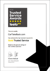CarTakeBack's 2018 Gold Trusted Service Award 2018