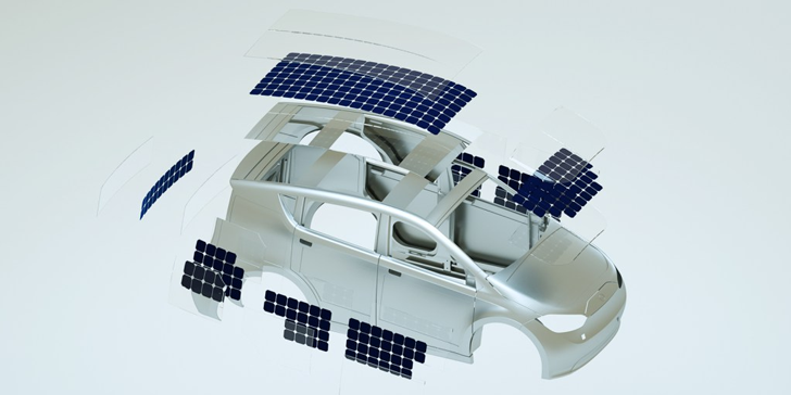 Sono Motors solar panel car - Sion. Image courtesy of Sono Motors