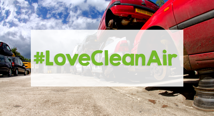 #LoveCleanAir London Scrappage. Scrap cars at scrap yard.