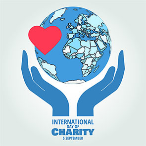 International Day of Charity graphic